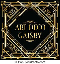 deco , τέχνη , gatsby, φόντο