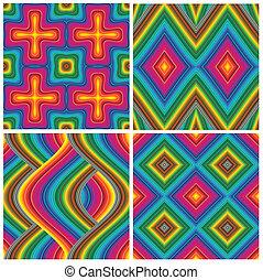 deco, パターン, セット, 芸術, ベクトル