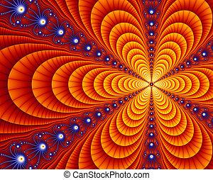 deco art, fractal, julia