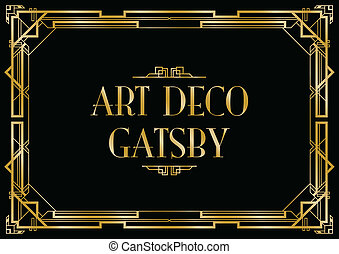 deco, art, gatsby, fond
