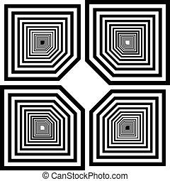 deco, art, inspiré, pseudo, illustration, coupure, labirinth...
