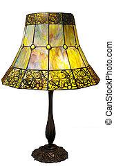 deco arte, lampada, con, farfalle