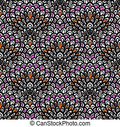 deco, arte, padrão, seamless, vetorial, floral