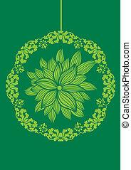 Deco item - Garden flower pattern