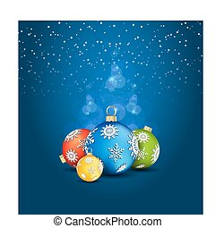 deco, plano de fondo, pelota de navidad