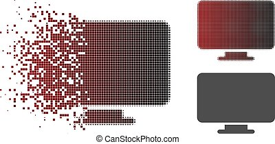 Decomposed Pixel Halftone Desktop Icon