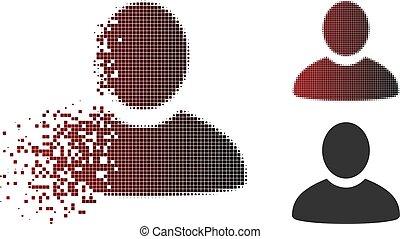 Decomposed Pixel Halftone User Icon