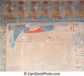 decor at the Hatshepsut Temple