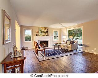 decor., eleven, kedves, szoba, harwood