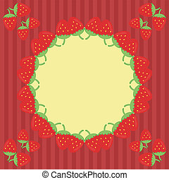 decor frame with strawberry