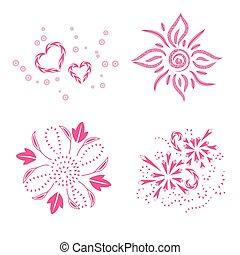 decor ornaments, art design, vector