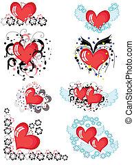 Decor with hearts CMYK