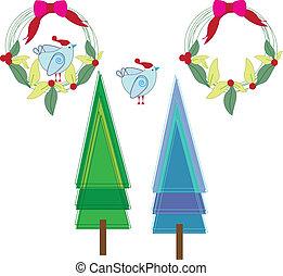 decoração, árvores natal