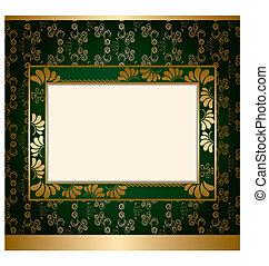 decoração, abstratos, quadro