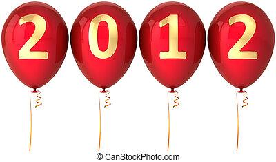 decoração, ano novo, balões, 2012