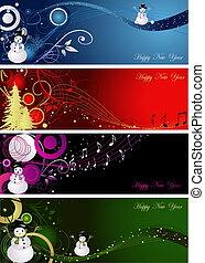 decoração, ano novo