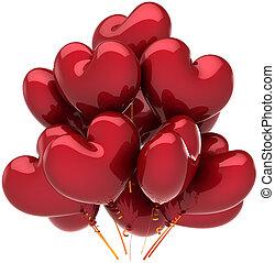 decoração, balões, Amor, corações