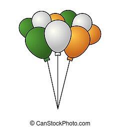 decoração, balões, grupo