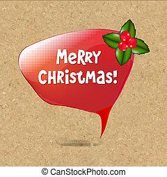 decoração, borbulho fala, natal