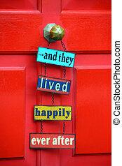 decoração, casa, entrada, fresco