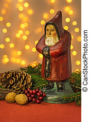 decoração, claus, estatueta, santa, natal
