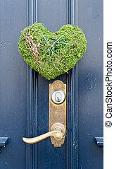 decoração, de, norueguês, porta