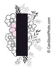 decoração floral, letra