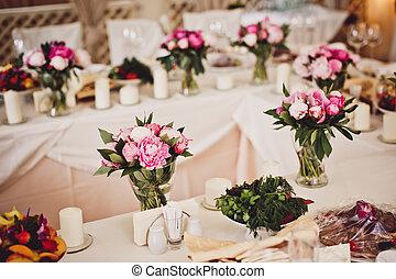 decoração, flores, casório