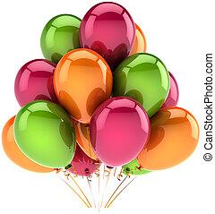 decoração, hélio, balões, partido