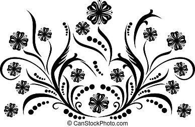 decoração, ilustração, vetorial, scroll, cartouche