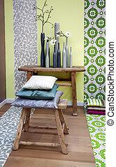 decoração, interior, elementos