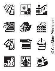 decoração, interior, materiais