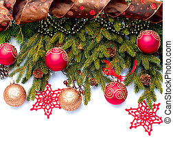decoração, isolado, Decorações, branca, feriado, Natal