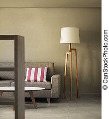decoração, lar, conceito, modernos