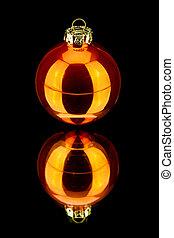 decoração, laranja, pretas, natal