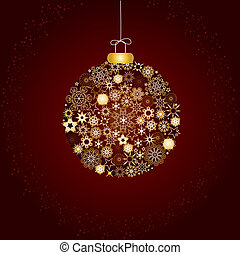 decoração, marrom, natal, ouro