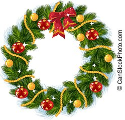 decoração, natal, arco vermelho