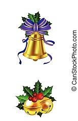 decoração natal, com, arco, jogo