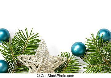 decoração natal, com, copy-space