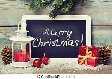 decoração natal, com, vela