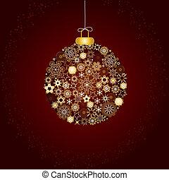 decoração natal, marrom, ouro