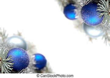decoração, natal, nevado
