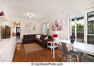 decoração, sala, vivendo, interior