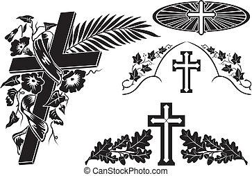 decoração, sepultura