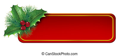 decoração, tag, natal, em branco, elemento