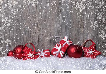 decorações natal, com, presente boxeia