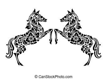 decoración, caballo, ornamento