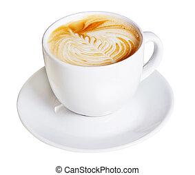 decoración, café, crema, artístico, taza