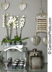 decoración de casa, objetos
