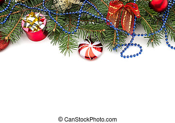 decoración, encima, navidad blanca